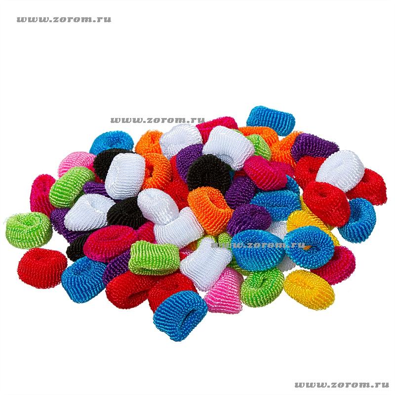 Резинки разноцветные махровые